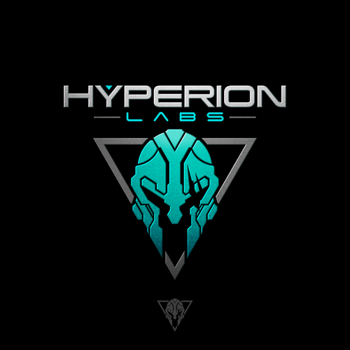 Spartan logo with the title 'Logo design for Hyperion Labs'