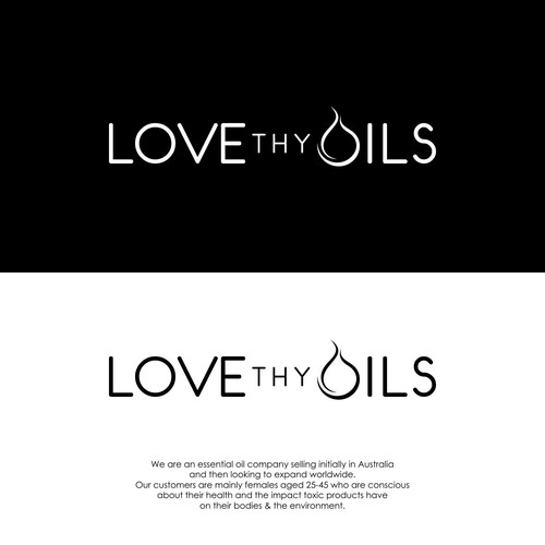Essential oils logo with the title 'Love Thy Oil'