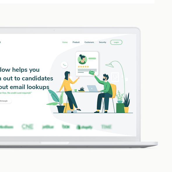 Icon website with the title 'Hireflow Brand Identity'