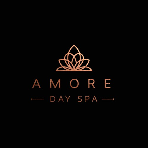 Beautiful logo with the title 'Amore Day Spa'