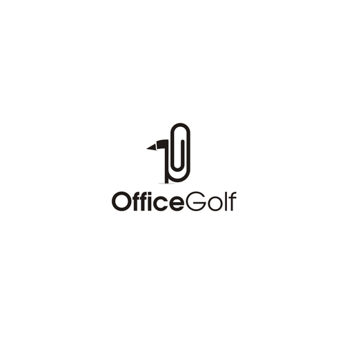 Desk logo with the title 'Create a logo for a golf company! '