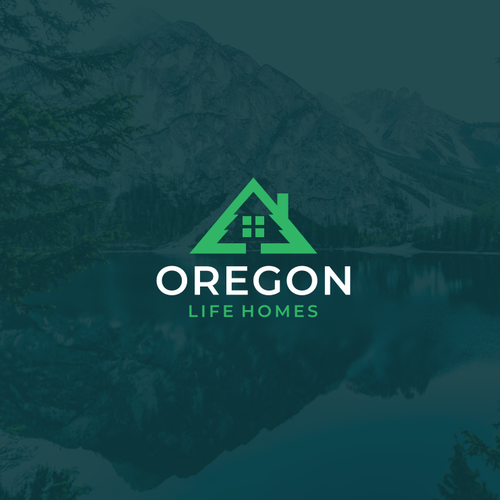 Life logo with the title 'Oregon Life Homes'