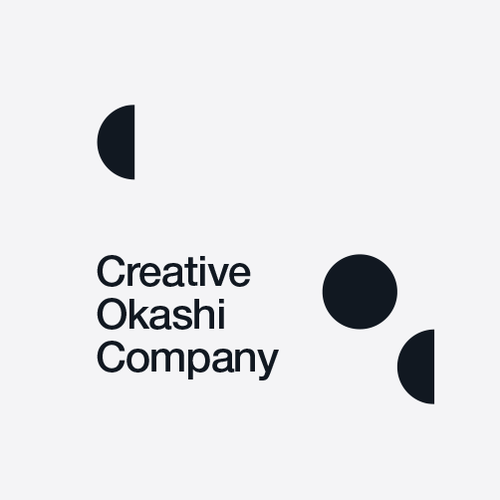 Food logo with the title 'Creative Okashi Company'