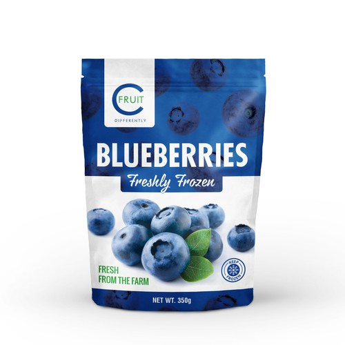 Frozen food packaging with the title 'C FRUIT'