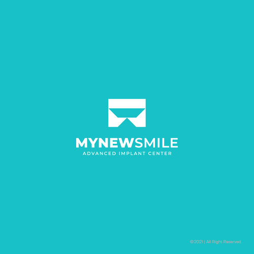 Clinic brand with the title 'MyNewSmile Logo'