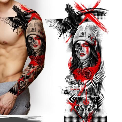 Epic design with the title 'Design Trash Polka Tattoo'