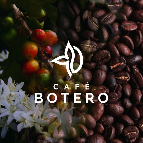 Flower brand with the title 'Cafe Botero'