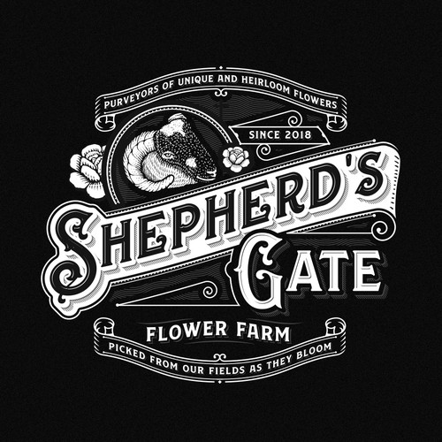 Sheep design with the title 'Shepherd's gate'