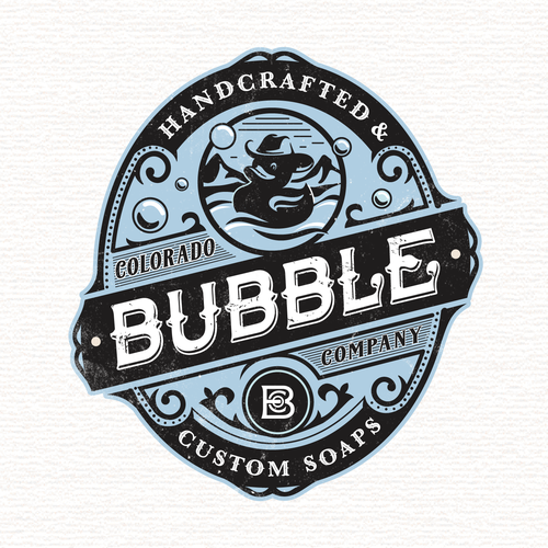 Cowboy design with the title 'Colorado bubble company'