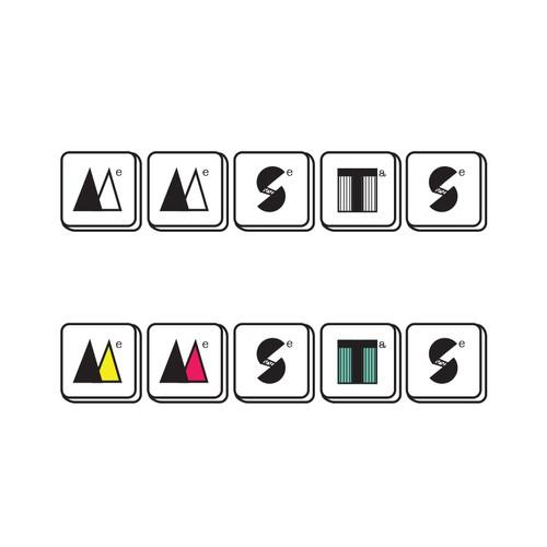 Tile design with the title 'Vintage style illustration logo'