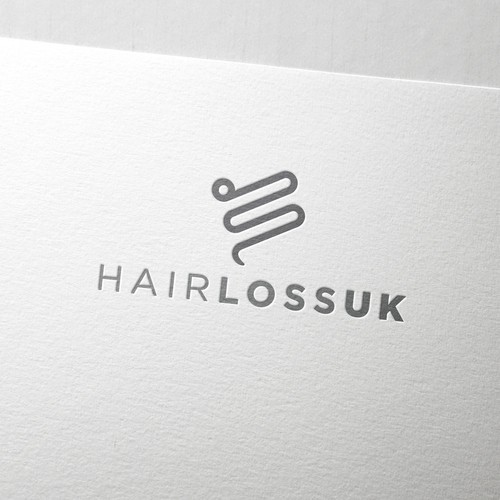 Saloon design with the title 'Hair Loss UK'
