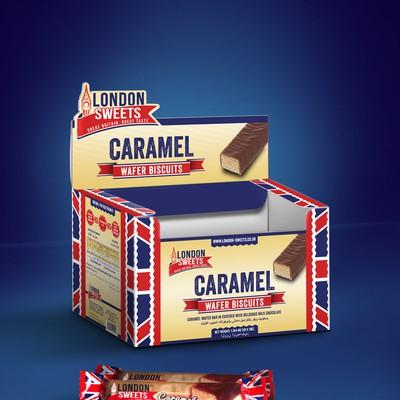 CARAMEL WAFER DISPLAY BOX