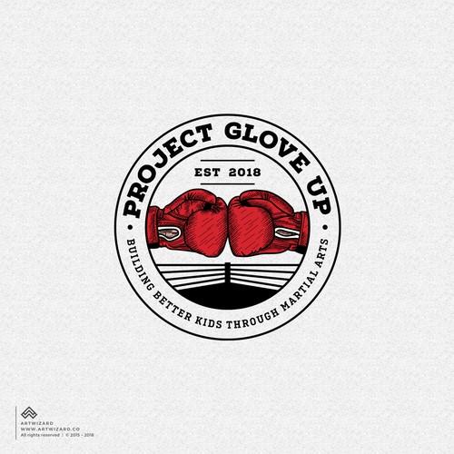 Taekwondo logo with the title 'Bold Logo for a Nonprofit Martial Art Training Camp'
