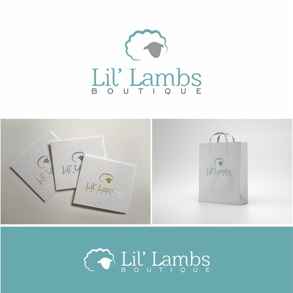 Lamb logo with the title 'Lil' Lambs Boutique '