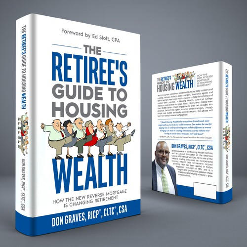 Retirement design with the title 'The Retiree's Guide to Housing Wealth'