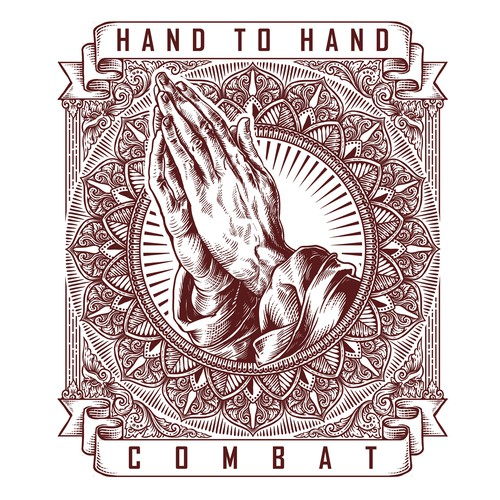 Hand t-shirt with the title 'Hand to Hand Combat'