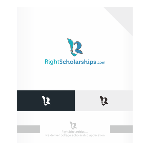 Pigeon logo with the title 'RightScholarships.com'