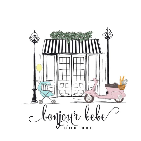 Baby boutique logo with the title 'Children boutique elegant logo'