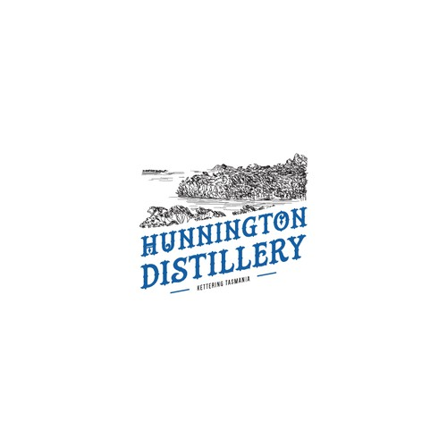 Gin logo with the title 'Distillery Logo'