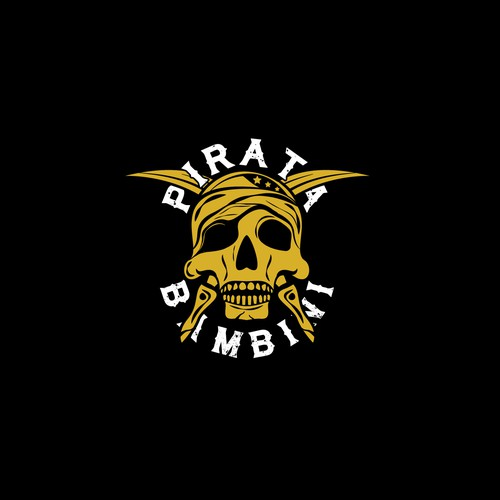 Danger logo with the title 'Logo concept for Bambini Pirata'