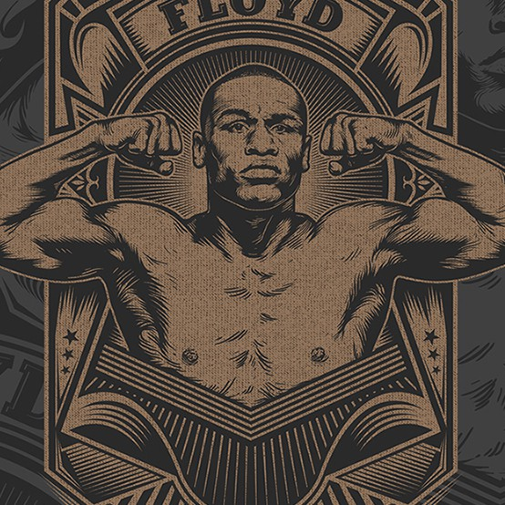 Sports t-shirt with the title 'Floyd Mayweather Boxing T-Shirt Design'
