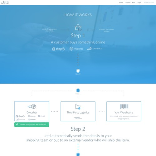 Blue artwork with the title 'Explainer Design Hero Section'
