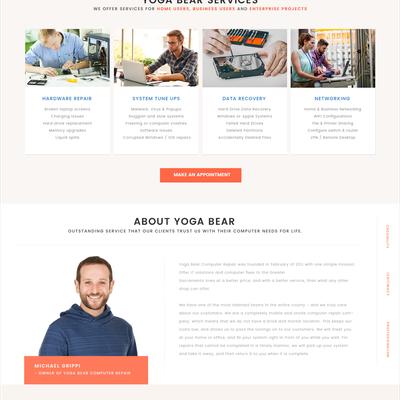 Web concept for a computer repair site