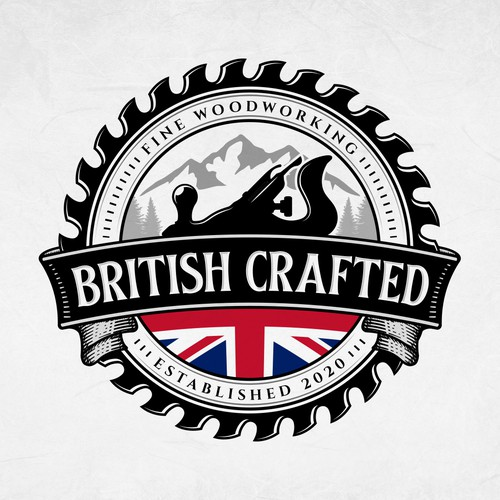 Woodworking design with the title 'British Crafted'