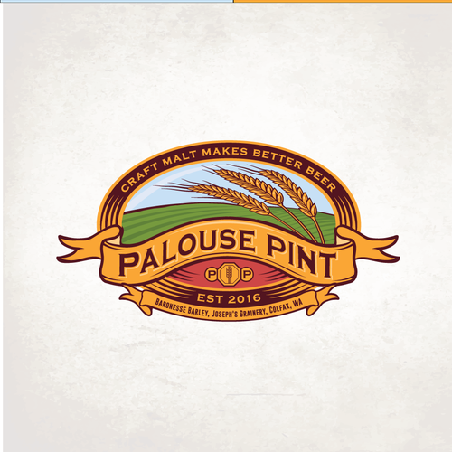 Distillery logo with the title 'Palouse Pint'