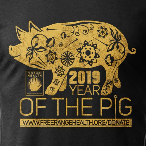 Retro t-shirt with the title 'Year of the Pig '