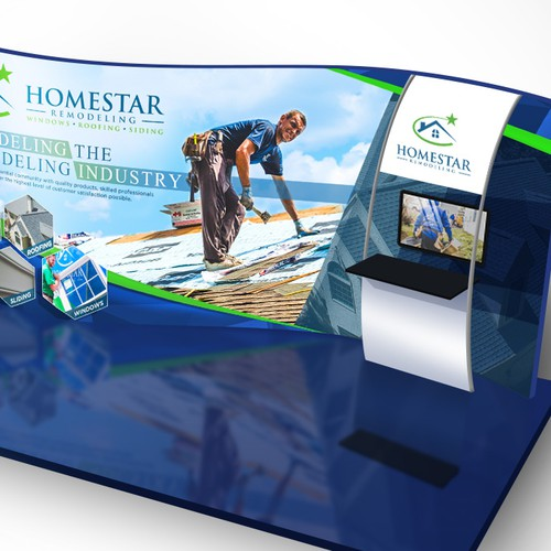Booth design with the title 'Homestar Remodeling Event Booth'