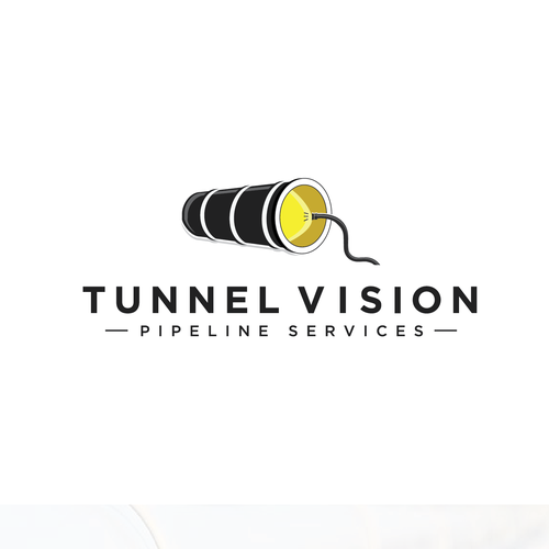 Pipeline logo with the title 'logo design'