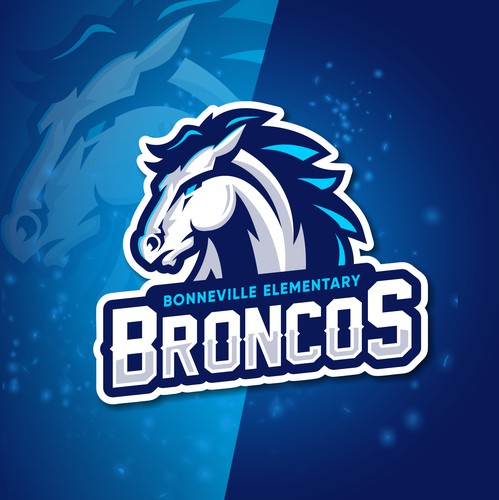 Esports design with the title 'Broncos (logo)'