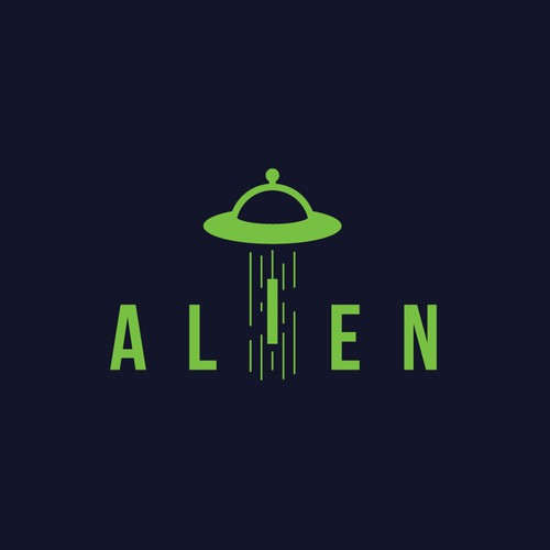 Spaceship logo with the title 'Alien Logo'
