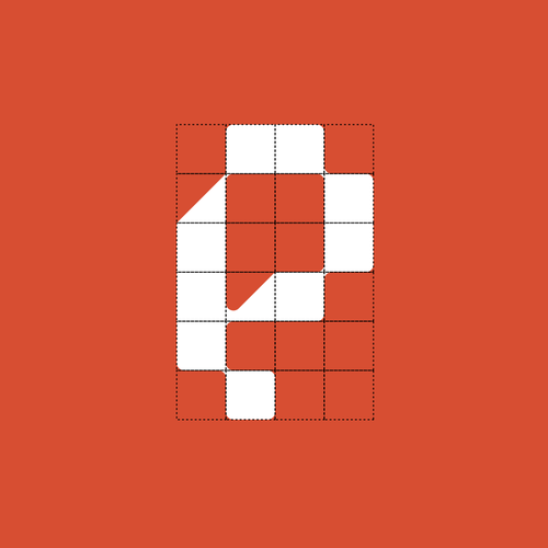 Pixel logo with the title 'LP icon'
