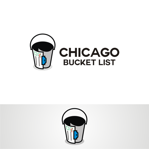 Chicago design with the title 'chicago bucket list '