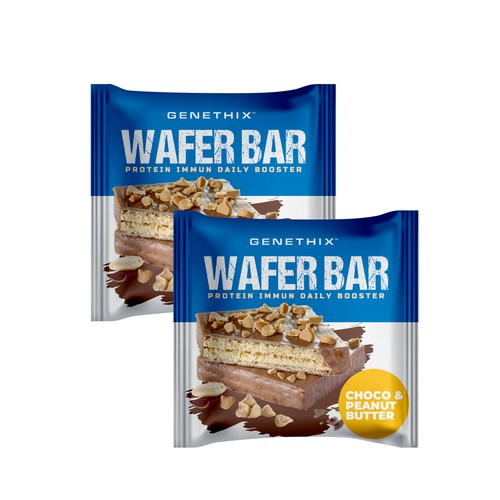 Pouch packaging with the title 'Wafer bar pouch'