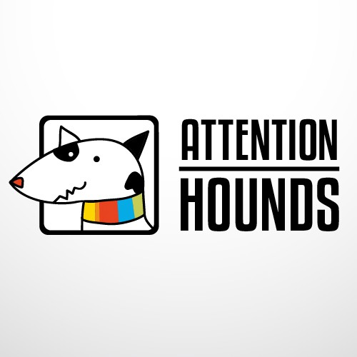 Collar design with the title 'Logo for Attention Hounds, a new dog collar company.'