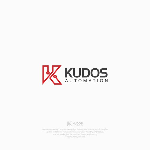 Robot brand with the title 'Logo concept for Kudos Automation'