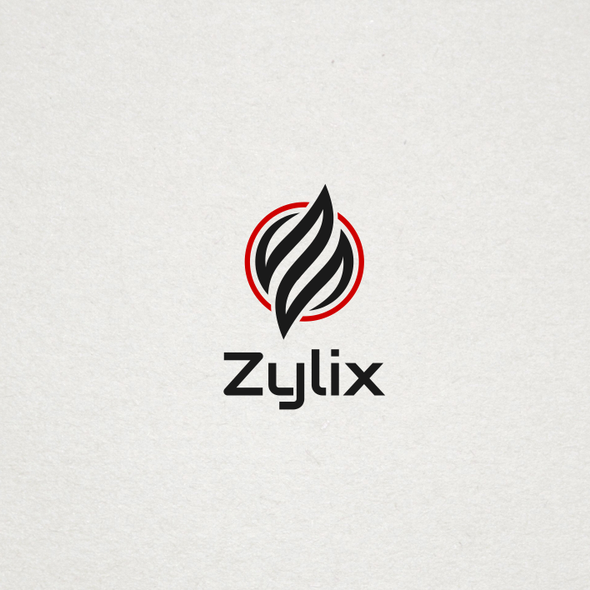 Black and red logo with the title 'Logo for zylix vaporizer'