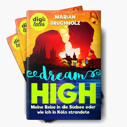Neon design with the title 'Dream High - Ebook'