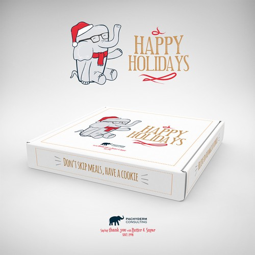 Christmas packaging with the title 'Packaging Design'