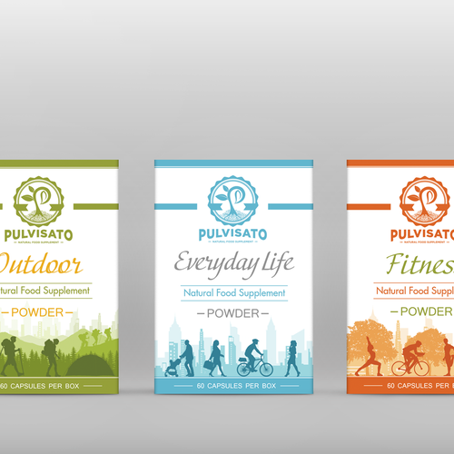 Whey packaging with the title 'Packaging design for Pulvisato Supplement '