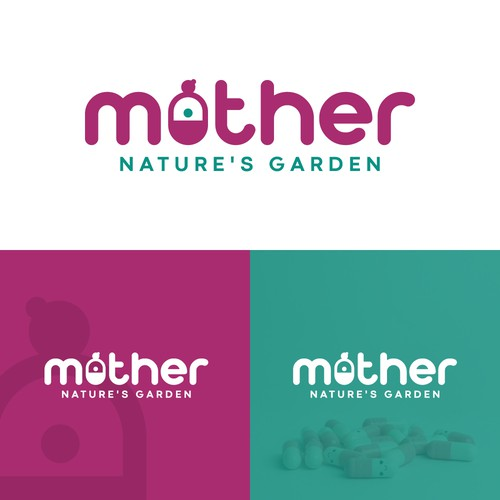 Mother and child logo with the title 'Wordmark Logo'