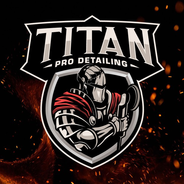 Detailing logo with the title 'TITAN PRO DETAILING'