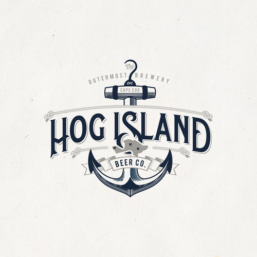 Anchor design with the title 'Hog Island Beer Co.'