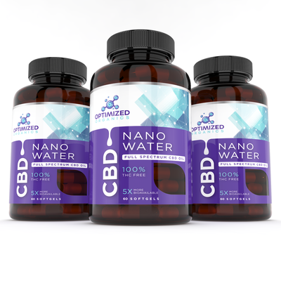 NanoWater CBD oil label design