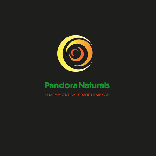 Optical illusion logo with the title 'Logo Design - Pandora Naturals'
