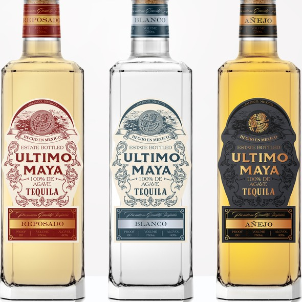 Spirit packaging with the title 'Authentic label design for tequila'