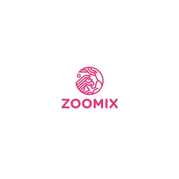 Magenta logo with the title 'Zoomix'